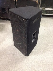 """EV 15"""" Top Speakers Details: Four Available, can be bought with accompanying cases. Fault Cone/Tweeters in all, so will need repairing, but will go for a low price."""